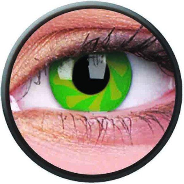 Phantasee Crazy Kontaktlinsen - Green Spin (2 St. Jahreslinsen) – ohne Stärke - exp.02/2021