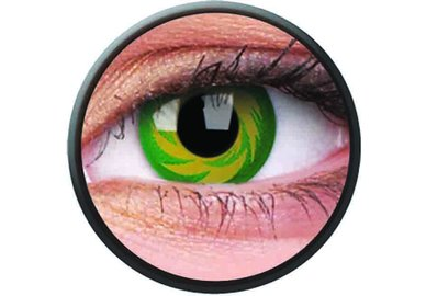 Phantasee Crazy Kontaktlinsen - Green Tornado (2 St. Jahreslinsen) – ohne Stärke - exp.02/2021