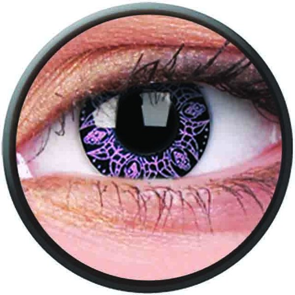 Phantasee Crazy Kontaktlinsen - Pink Artist (2 St. Jahreslinsen) – ohne Stärke - exp.02/2021