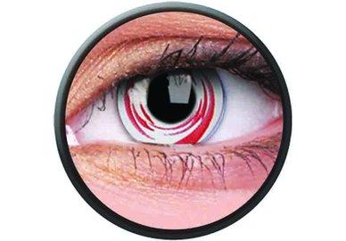Phantasee Crazy Kontaktlinsen - Red Galaxy (2 St. Jahreslinsen) – ohne Stärke - exp.02/2021