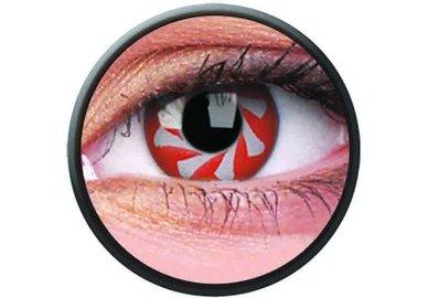 Phantasee Crazy Kontaktlinsen - Red Spin (2 St. Jahreslinsen) – ohne Stärke - exp.02/2021