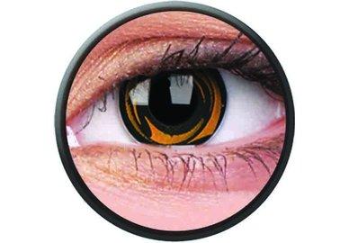 Phantasee Crazy Kontaktlinsen - Yellow Galaxy (2 St. Jahreslinsen) – ohne Stärke - exp.02/2021