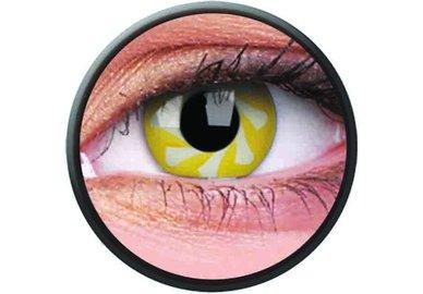 Phantasee Crazy Kontaktlinsen - Yellow Spin (2 St. Jahreslinsen) – ohne Stärke - exp.02/2021
