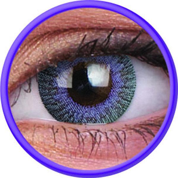 ColorVue Fusion - Grey Violet (2 St. 3-Monatslinsen) – mit Stärke
