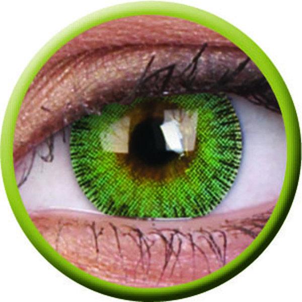 ColorVue Fusion - Yellow Green (2 St. 3-Monatslinsen) – mit Stärke