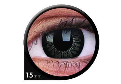 ColorVue Big Eyes - Awesome Black (2 St. 3-Monatslinsen) – ohne Stärke
