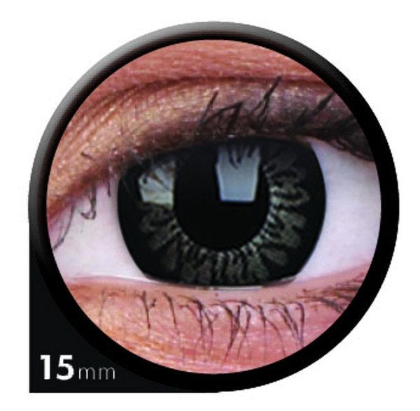 ColorVue Big Eyes - Awesome Black (2 St. 3-Monatslinsen) – ohne Stärke
