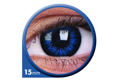 ColorVue Big Eyes - Cool Blue (2 St. 3-Monatslinsen) – mit Stärke
