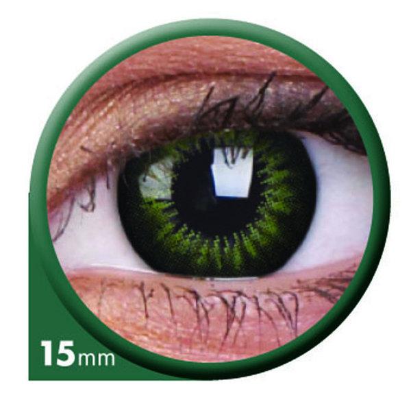 ColorVue Big Eyes - Party Green (2 St. 3-Monatslinsen) – ohne Stärke