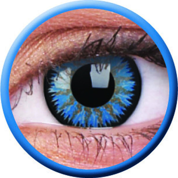 ColorVue Glamour - Aqua (2 St. 3-Monatslinsen) – ohne Stärke