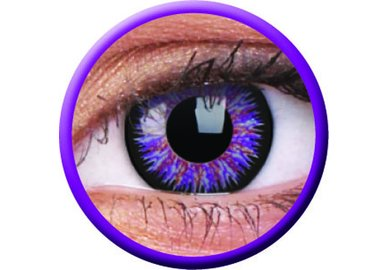 ColorVue Glamour - Violet (2 St. 3-Monatslinsen) – mit Stärke