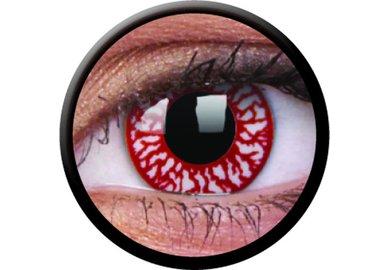 ColorVue Crazy-Kontaktlinsen - Blood Shot (2 St. Tageslinsen) – ohne Stärke