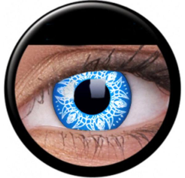 Phantasee Crazy Kontaktlinsen - Blue Artist/Blue Batik (2 St. Jahreslinsen) – ohne Stärke