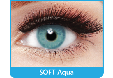 SoftColours - Aqua (2 St. Monatslinsen) – ohne Stärke