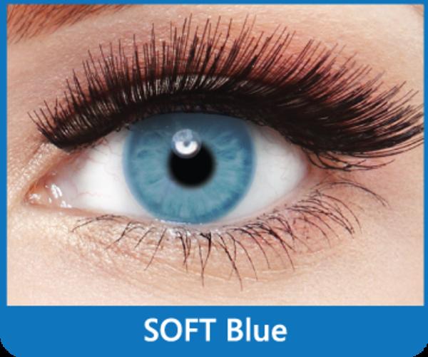 SoftColours - Blue (2 St. Monatslinsen) – ohne Stärke