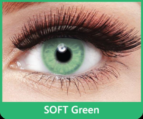 SoftColours - Green (2 St. Monatslinsen) – ohne Stärke