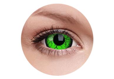 ColorVue Crazy  Kontaktlinsen 17 mm - Green Hornet (2 St. Jahreslinsen) – ohne Stärke