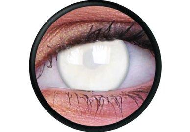ColorVue Crazy Kontaktlinsen - Blind White (2 St. Jahreslinsen) – ohne Stärke