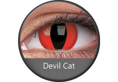 ColorVue Crazy Kontaktlinsen - Devil Cat (2 St. Jahreslinsen) – ohne Stärke