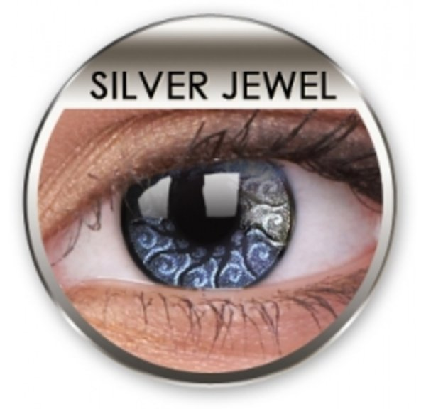 Jewel - Silver Jewel (2 St. 3-Monatslinsen) - ohne Stärke