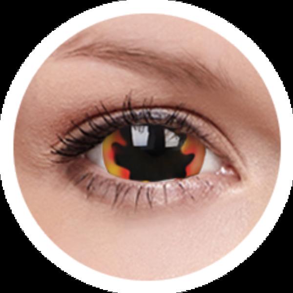 ColorVue Crazy  Kontaktlinsen 17 mm - Blackhole Sun (2 St. Jahreslinsen) – ohne Stärke