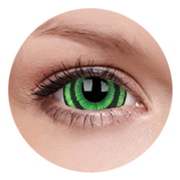 ColorVue Crazy  Kontaktlinsen 17 mm - Green Goblin (2 St. Jahreslinsen) – ohne Stärke