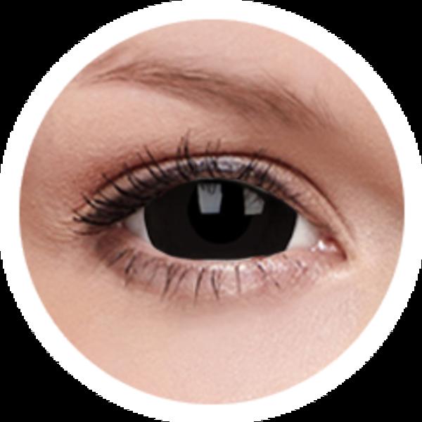 ColorVue Crazy  Kontaktlinsen 17 mm - Black Titan (2 St. Jahreslinsen) – ohne Stärke