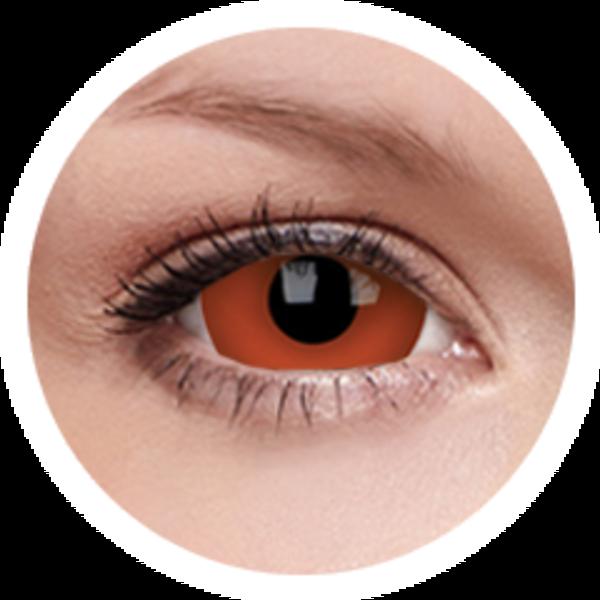 ColorVue Crazy  Kontaktlinsen 17 mm - Red Devil (2 St. Jahreslinsen) – ohne Stärke