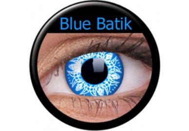 ColorVue Crazy Kontaktlinsen - Blue batic (2 St. Jahreslinsen) – ohne Stärke