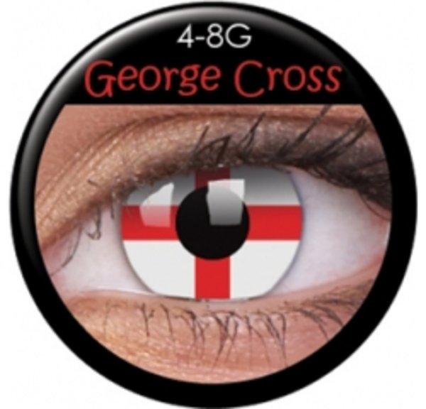 ColorVue Crazy Kontaktlinsen - Georgeous Cross (2 St. Jahreslinsen) – ohne Stärke