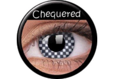 ColorVue Crazy Kontaktlinsen - Chequered (2 St. Jahreslinsen) – ohne Stärke