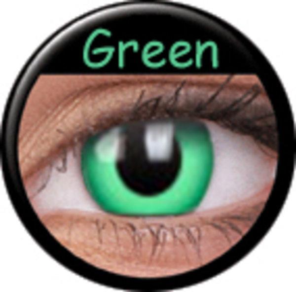 Phantasee Crazy Kontaktlinsen - Green (2 St. Jahreslinsen) – ohne Stärke