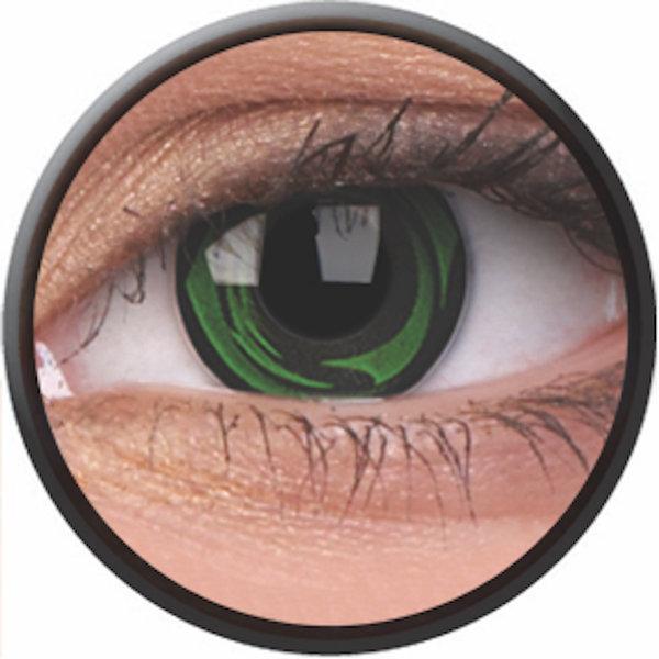 Phantasee Crazy Kontaktlinsen - Green Galaxy (2 St. Jahreslinsen) – ohne Stärke