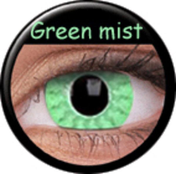 Phantasee Crazy Kontaktlinsen - Green Mist (2 St. Jahreslinsen) – ohne Stärke - exp.04/2020