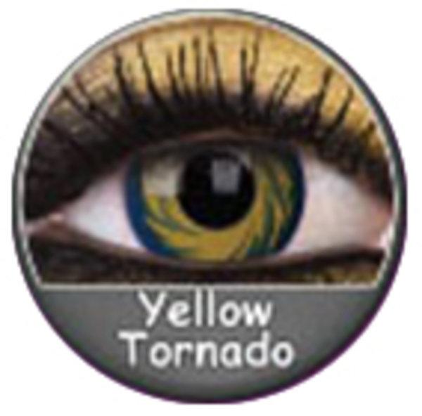 Phantasee Crazy Kontaktlinsen - Yellow Tornado (2 St. Jahreslinsen) – ohne Stärke