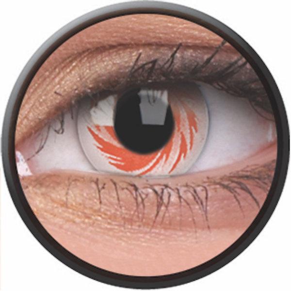 Phantasee Crazy Kontaktlinsen - White Tornado (2 St. Jahreslinsen) – ohne Stärke