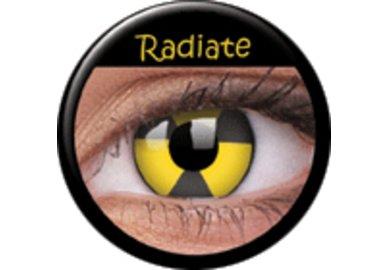 ColourVue Crazy Kontaktlinsen - Radiate (2 St. Jahreslinsen) – ohne Stärke