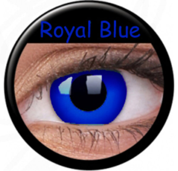ColourVue Crazy Kontaktlinsen - Royal Blue (2 St. Jahreslinsen) – ohne Stärke