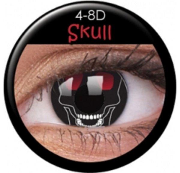 ColourVue Crazy Kontaktlinsen - Skull (2 St. Jahreslinsen) – ohne Stärke
