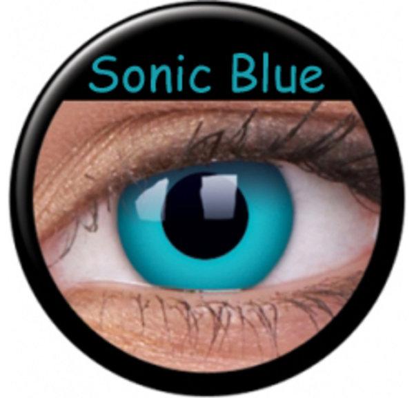 ColourVue Crazy Kontaktlinsen - Sonic Blue (2 St. Jahreslinsen) – ohne Stärke
