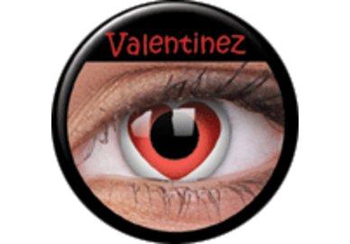 ColourVue Crazy Kontaktlinsen - Valentinez (2 St. Jahreslinsen) – ohne Stärke