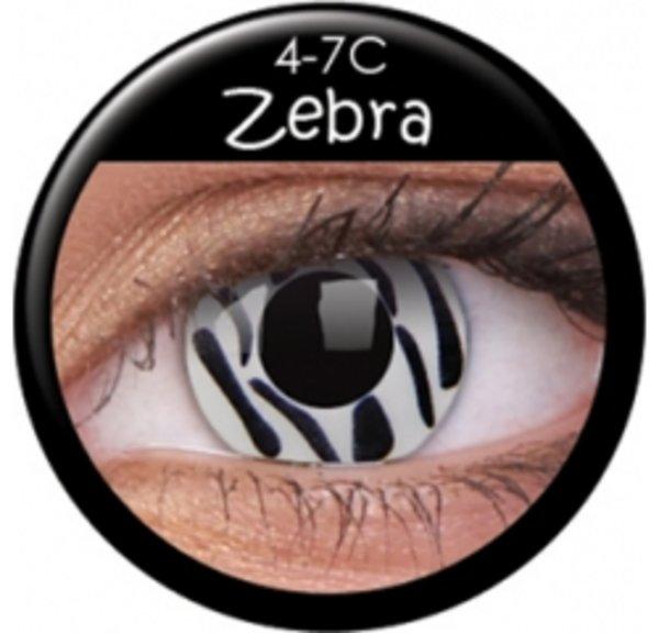 ColourVue Crazy Kontaktlinsen - Zebra (2 St. Jahreslinsen) – ohne Stärke