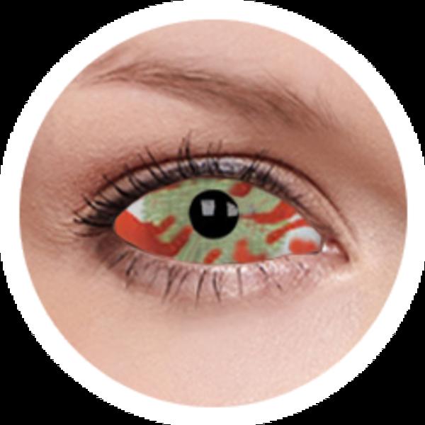 ColourVue Crazy Kontaktlinsen 22 mm - Contagion (2 St. 6-Monatslinsen) – ohne Stärke