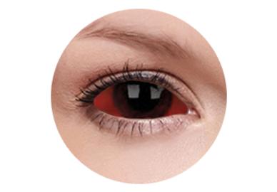 ColourVue Crazy Kontaktlinsen 22 mm - Carnage (2 St. 6-Monatslinsen) – ohne Stärke