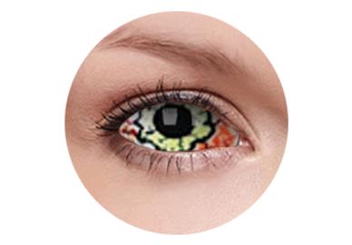 ColourVue Crazy Kontaktlinsen 22 mm - Kurse (2 St. 6-Monatslinsen) – ohne Stärke