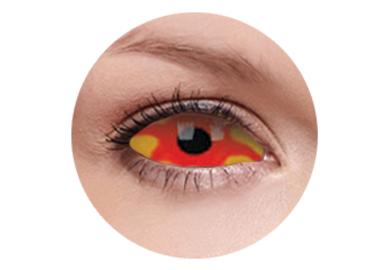 ColourVue Crazy Kontaktlinsen 22 mm - Kancer (2 St. 6-Monatslinsen) – ohne Stärke