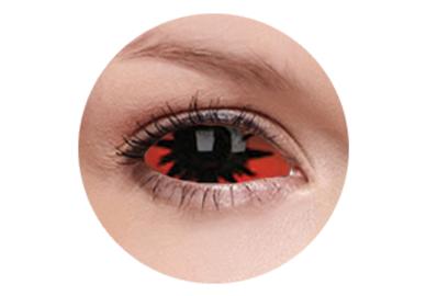 ColourVue Crazy Kontaktlinsen 22 mm - Omega Red (2 St. 6-Monatslinsen) – ohne Stärke