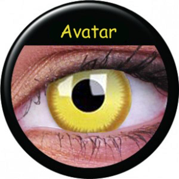 ColorVue Crazy-Kontaktlinsen - Avatar (2 St. 3-Monatslinsen) – ohne Stärke