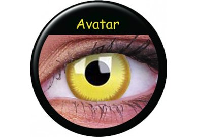 ColorVue Crazy-Kontaktlinsen - Avatar (2 St. 3-Monatslinsen) – mit Stärke