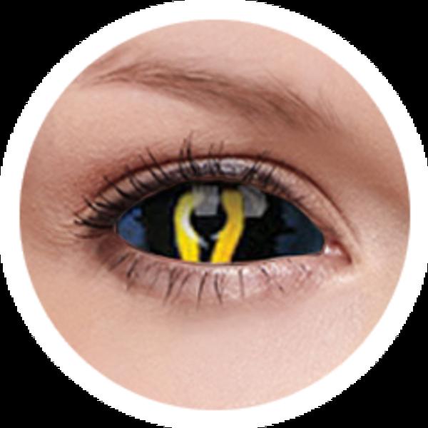 ColourVue Crazy Kontaktlinsen 22 mm - Xorn (2 St. 6-Monatslinsen) – ohne Stärke